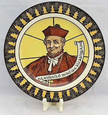 "Royal Doulton Cardinal Plate - ""A Contented Mind Is A Blessing Kind"""