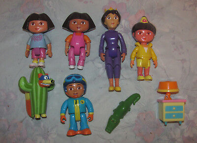 Dora the Explorer PVC Figure Set - Mami, Diego, Swiper - 6 Figures, Toys
