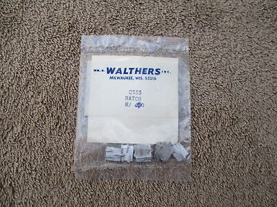 Walthers #C555 HO Scaled 8 Metal Reefer Hatches Detail Parts Train Cars Railroad