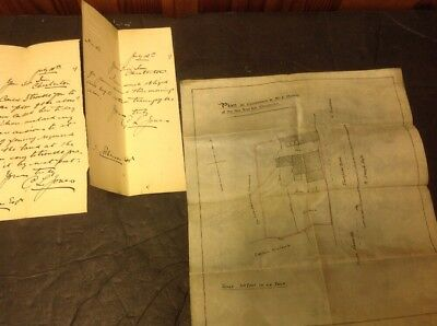 Old Staffordshire Document Chesterton, Yew Tree Inn, small Plan 1899...