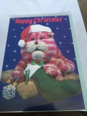 BN Happy Christmas Bagpuss with a stocking Card