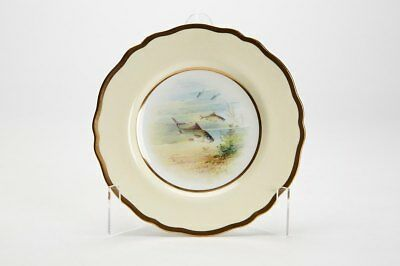 Wedgwood Cabinet Plate With Barbel By A Holland C.1900