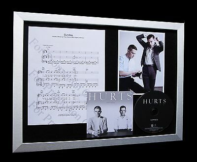 HURTS Sunday LIMITED Numbered CD GALLERY QUALITY FRAMED DISPLAY-HAPPINESS!!