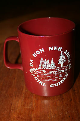 Vintage Plastic Girl Guides Coffee Mug / Cup Advertising Campground Da Hon Neh