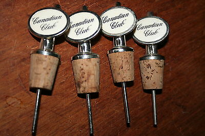 Whiskey Canadian Club Liquor Bottle Stopper Spouts Four in Total