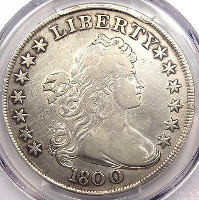 "1800 Draped Bust Silver Dollar $1 ""Americai"" - PCGS VF Details - Rare Variety!"