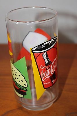 Burger King Drinking Glass Advertising Whopper & Coca Cola