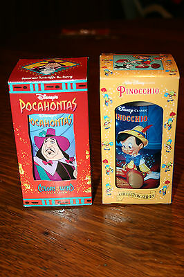 1994 Disney Collector Series Burger King Cups new in box Pinocchio & Pocahontas