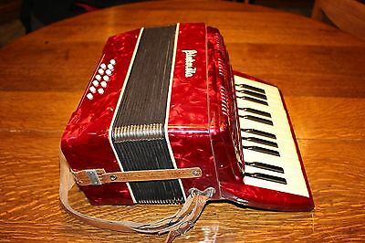 Vintage Piakordia Accordion Childs Small German Beginners Lightweight 12 Bass