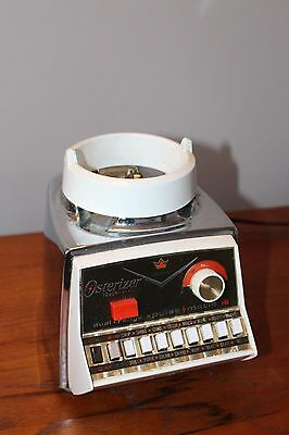 Vintage Osterizer Imperial Blender Chrome Body no Glass Jar Oster Pulse Matic