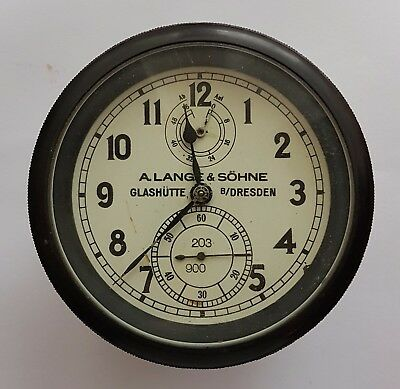 Unique rare marine chronometer WW2  A.Lange & Sohne Glashutte Germany Wehrmacht