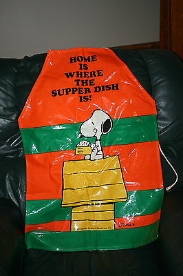 Vintage Charlie Brown Snoopy Plastic Cooking Apron Men's or Womens Baking Apron