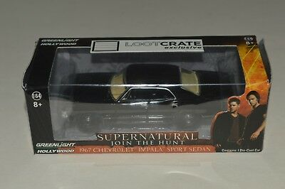 2015 Greenlight Supernatural 1967 Chevrolet Impala 1:64 Loot Crate Exclusive MIB