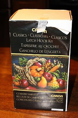 Caron Latch Hook Kit Classic Country Harvest with hook & instructions in box