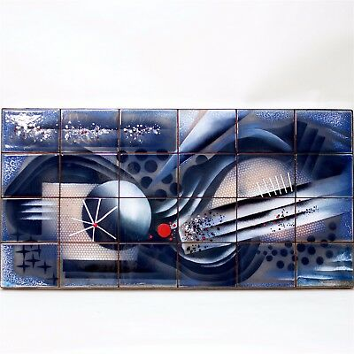 Enamel Wall Panel by Edward Winter made in United States