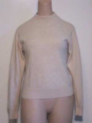 Jacobson's 100% 2 Ply Cashmere Vintage Pullover Sweater PL  Oatmeal/Crewneck