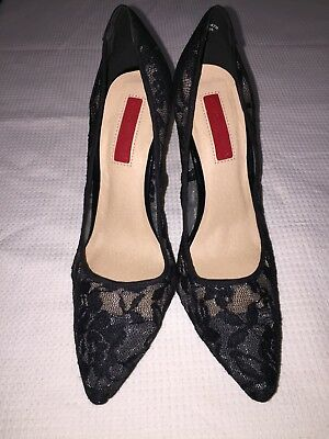 Size 6 Fully Lace Stilettos Heels shoes Black Stunning Sexy unusual