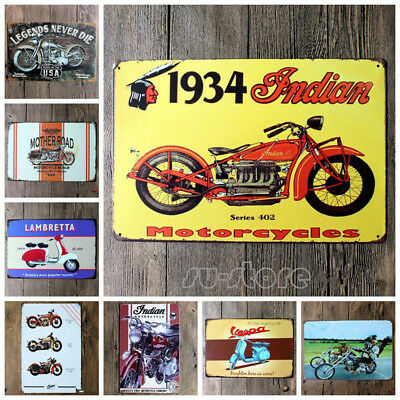20*30CM Vintage Metal Sign Tin Motorcycle Home Bar Pub Garage Decor Poster Tools