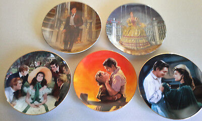 Lot of 5 Collectable Gone with the Wind Plates; W S George/Knowles