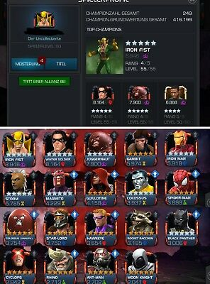 Mcoc Account 5500+ prestige inkl. Email adresse
