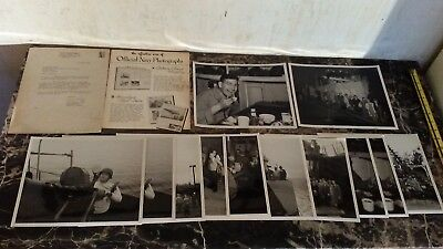 Estate Lot of 12 Official US Navy Photos WW2 Landing Craft Infantry Ship 1944