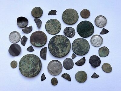 Group Of Old British Coins - Metal Detecting Finds