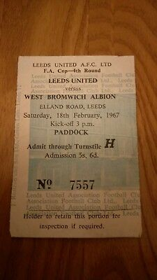 LEEDS UNITED v WEST BROMWICH ALBION 18/2/67 FA CUP 4th ROUND