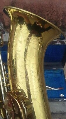 King Super 20 Tenor Saxophone With Sterling Silver Neck In Good Condition