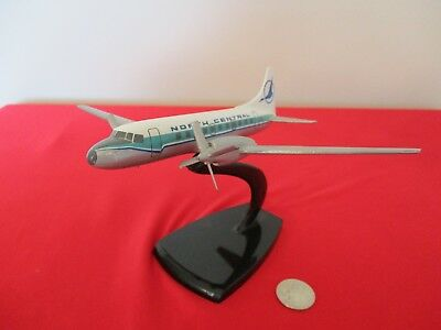 Air Jet Advance North Central Dc-3 Desk Model Airplane Sold By Tally-Ho  Rare
