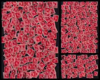 GB UK 1936 Used KEVIII Large Collection 1d Scarlet SG#458 (350 Stamps) #CB817