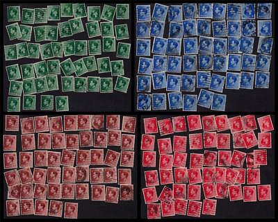 GB UK 1936 Used KEVIII Large Collection Sets SG#457/460 (200 Stamps) #CB818