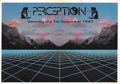 Perception - Rave Flyer 1990 - 808 State, DJ Fabio Grooverider, Oxfordshire RARE