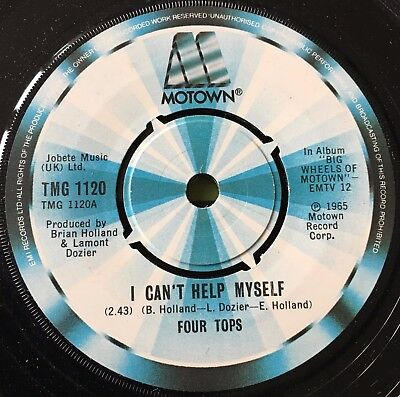 """FOUR TOPS - I CAN'T HELP MYSELF b/w IT'S THE SAME OLD SONG  7"""" vinyl single"""