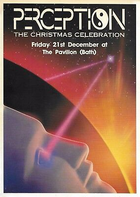 Perception - Christmas Celebration Rave Flyer 1990 K-Klass DJ Fabio Grooverider