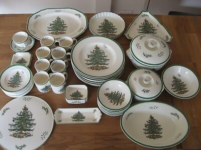 50 Piece Lot Of Spode Christmas Tree. - Excellent Used Condition