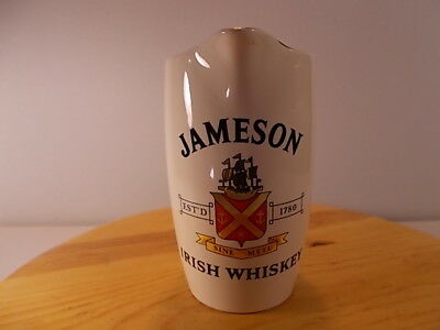 Vintage Jameson Irish Whiskey PitcherJug By Wade PDM England Gold Trim