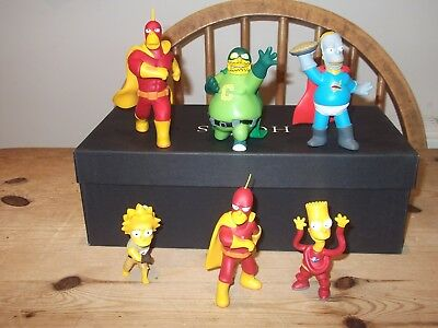 The Simpsons Figures Greetings from Springfield Series 5 SUPER HEROES LTD ED LOT