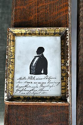 ANTIQUE Mid 1800's  PAINTED SILHOUETTE VICTORIAN GENTLEMAN FOLK ART RARE