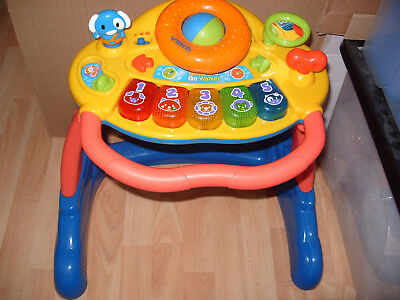 Vtech Grow Go Walker Rrp £49.99  Baby Child Learning Animal Abc Activity Table :