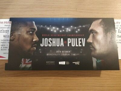 A2 Floor Seats - Anthony Joshua V Kubrat Pulev X 2 Tickets