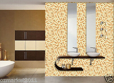 Yellow Mosaic Grid Modern Customized Waterproof Environmental Oilproof Wallpaper