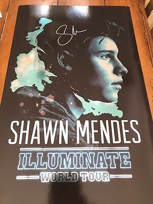 shawn mendes signed illuminate world tour poster