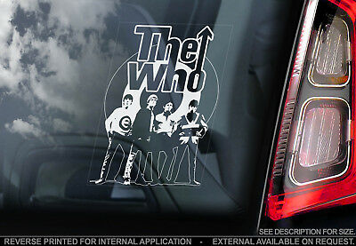 The Who - Car Window Sticker - Punk Rock Band Music Tommy Mod Decal Sign - V01