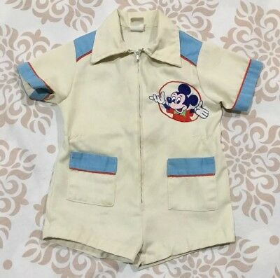 Walt Disney PROD. 1978 BABY Boys One Piece ROMPER Jumpsuit Outfit 3T T Toddler