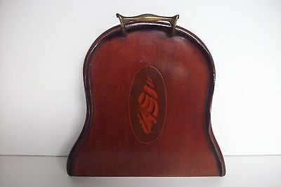**antique Victorian/edwardian Sheraton Style Crumb Tray Shell Marquetry Inlay**