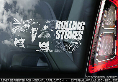 Rolling Stones - Car Window Sticker -The Rock Pop Band Music Lips Decal Sign V01