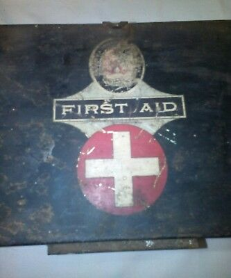 Vintage Metal Box First Aid Kit and contents