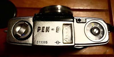 Olympus Pen D Half Frame Film Camera with 32mm F1.9 Wide Angle Fast Lens VGC