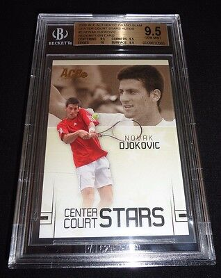 2006 Ace Authentic Center Court Stars Novak Djokovic Rookie RC BGS 9.5 Gem Mint