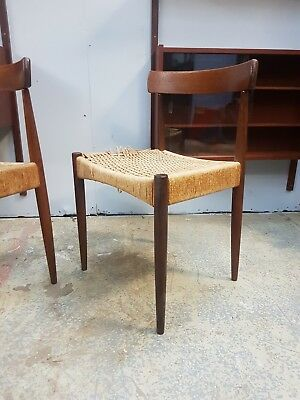 A Pair of Vintage Danish Dining Chairs by Arne Hovmand Olsen for Mogens Kold